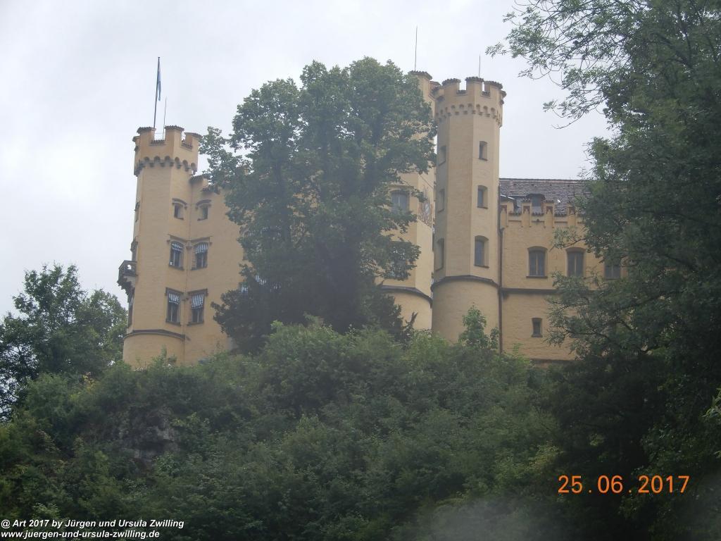 Schloss Hohenschwangau und Neuschwanstein im Allgäu
