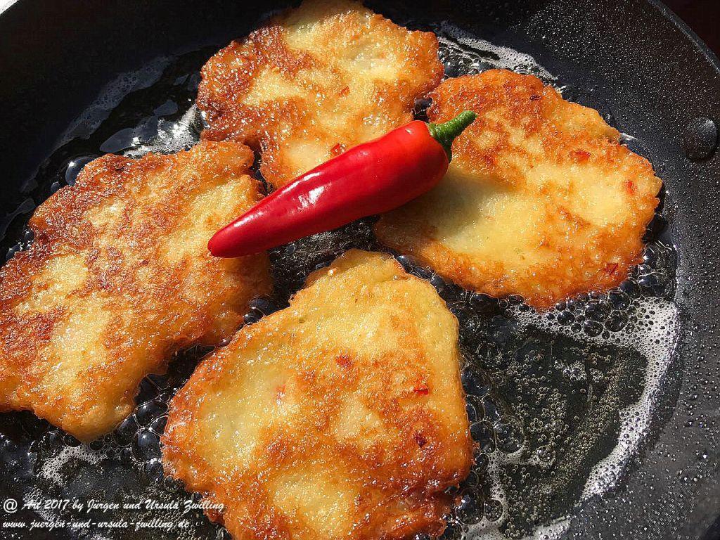 Chilli - Kartoffelpuffer im Garten