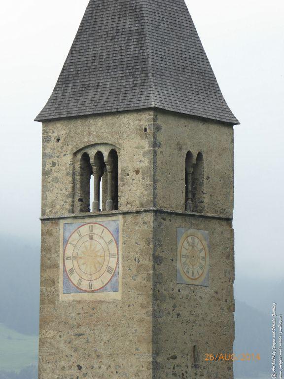 Reschensee am Reschenpass - Tirol - Landeck - Vinschau - Österreich