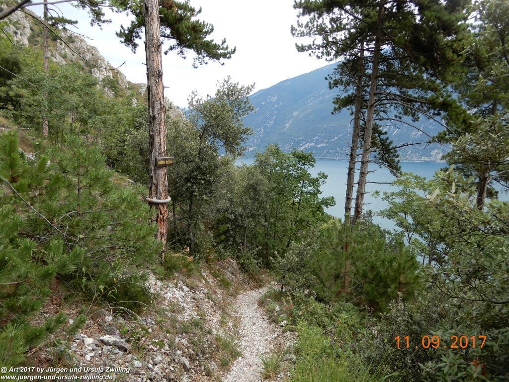 Philosophische Bildwanderung De Sentiero del Sole - Limone sul Garda - Lombardei - Brescia - Gardasee - Italien