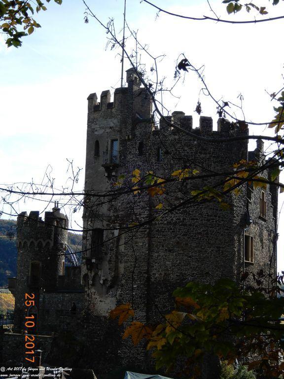 Philosophische Bildwanderung Rheinburgenweg - Trechtingshausen - Burg Reichenstein  - Morgenbachtal - Eselspfad  - Burg Rheinstein - Schweizerhaus - Trechtingshausen - Hunsrück