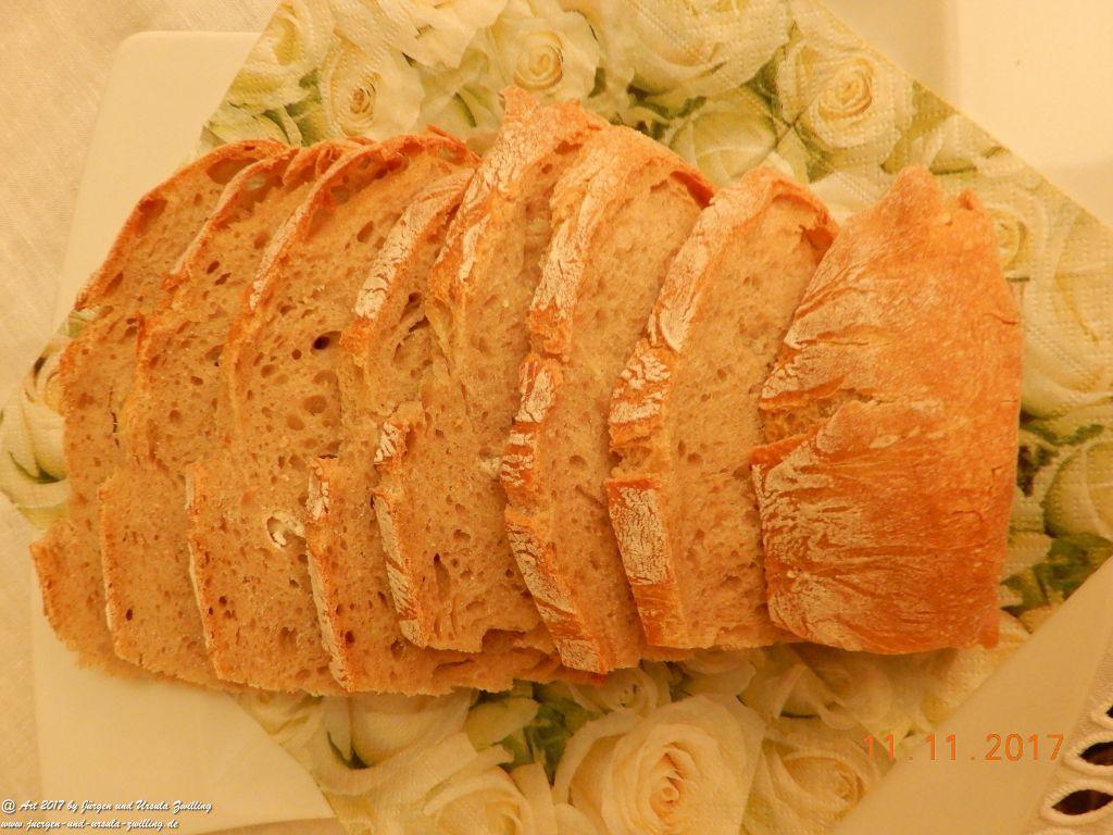 Ursula's Brot mit frischem Gänseschmalz