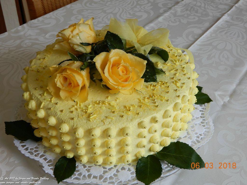 Ursula's Käsesahnetorte zum 84zigstens Geburtstag von Oma