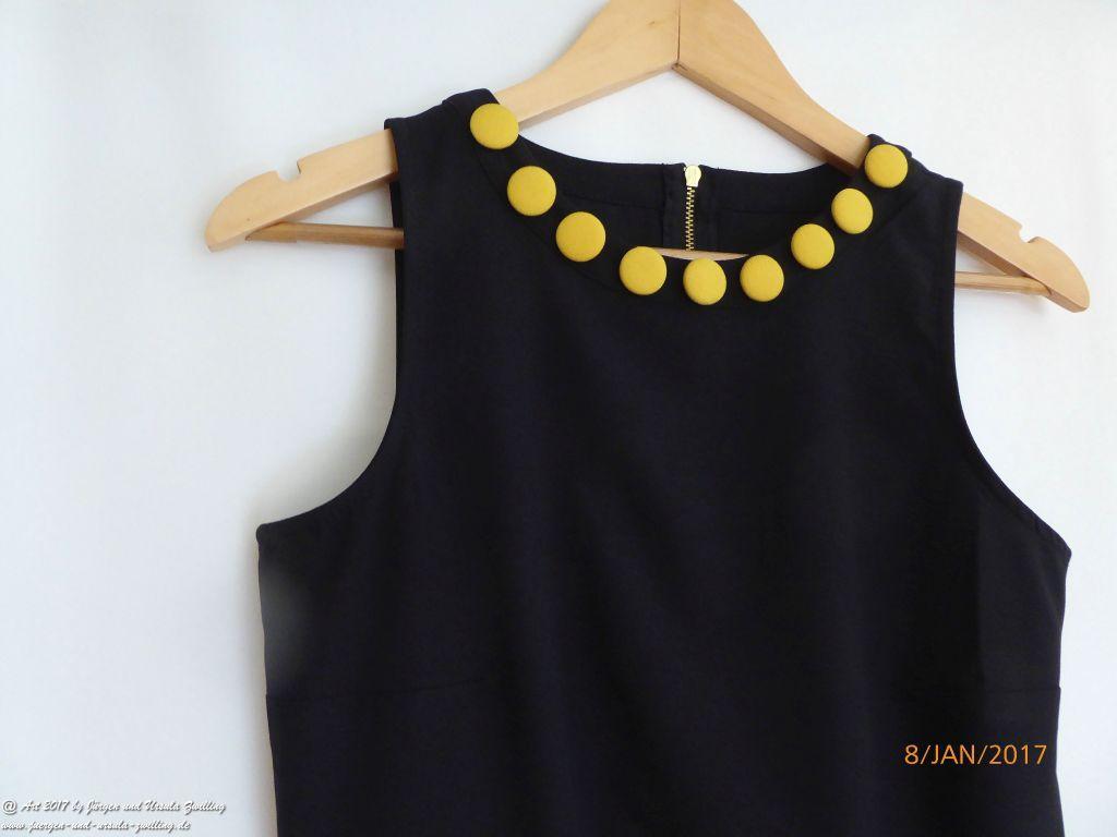 Aus Alt mach Neu, mit Ursula's Modeblick. Jacke und Kleid schwarz gelb abgeändert und kombiniert