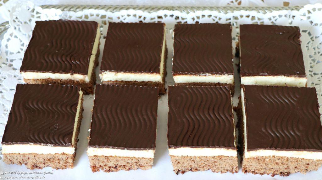 Ursula's Schokokuchen mit Grießcreme -Ciasto czekoladowe z kremem kaszy mannej