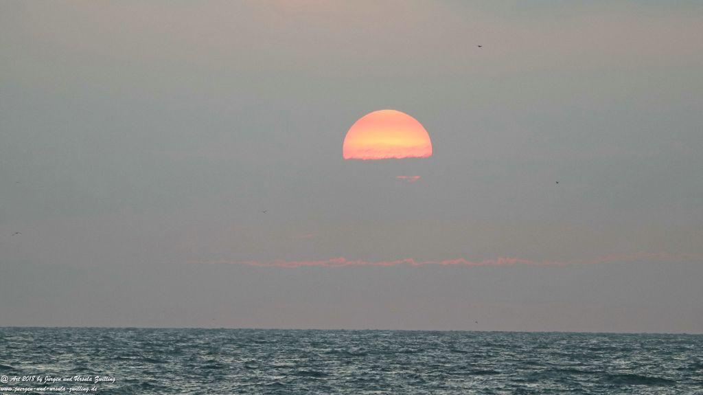 Sonnenuntergang in Ostende - Oostende Belgien - Nordsee