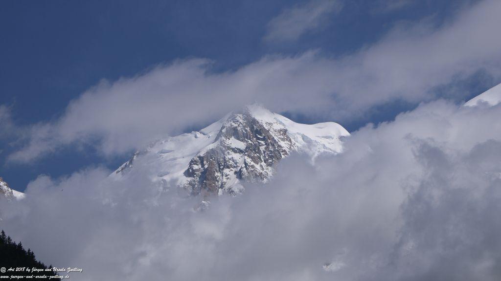 Philosophische Bildwanderung Les Bossons nach am Chamonix am Fuße des Mont Blanc  und Aiguille du Midi - Frankfreich