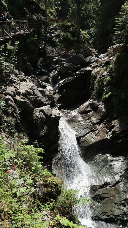 Philosophische Bildwanderung Gorges de la Diosaz -Wasserfall - Servoz Mont-Blanc - Frankreich