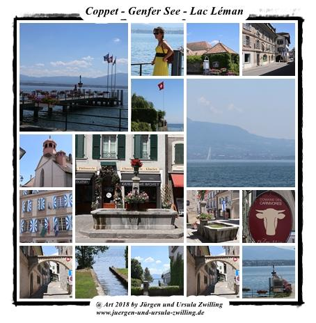 Coppet - Genfer See - Lac Léman - Schweiz