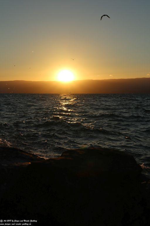 Sonnenuntergang  in Évian-les-Bains - Genfer See - Lac Léman - Frankreich