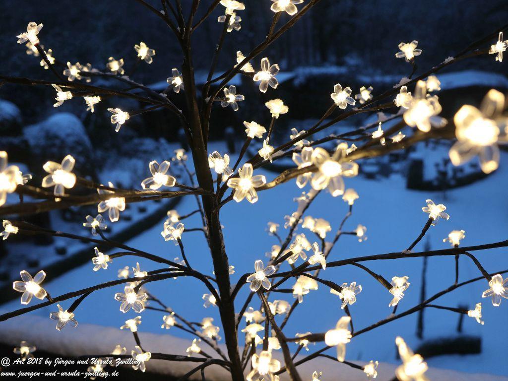 Garten in weiß (Schnee)