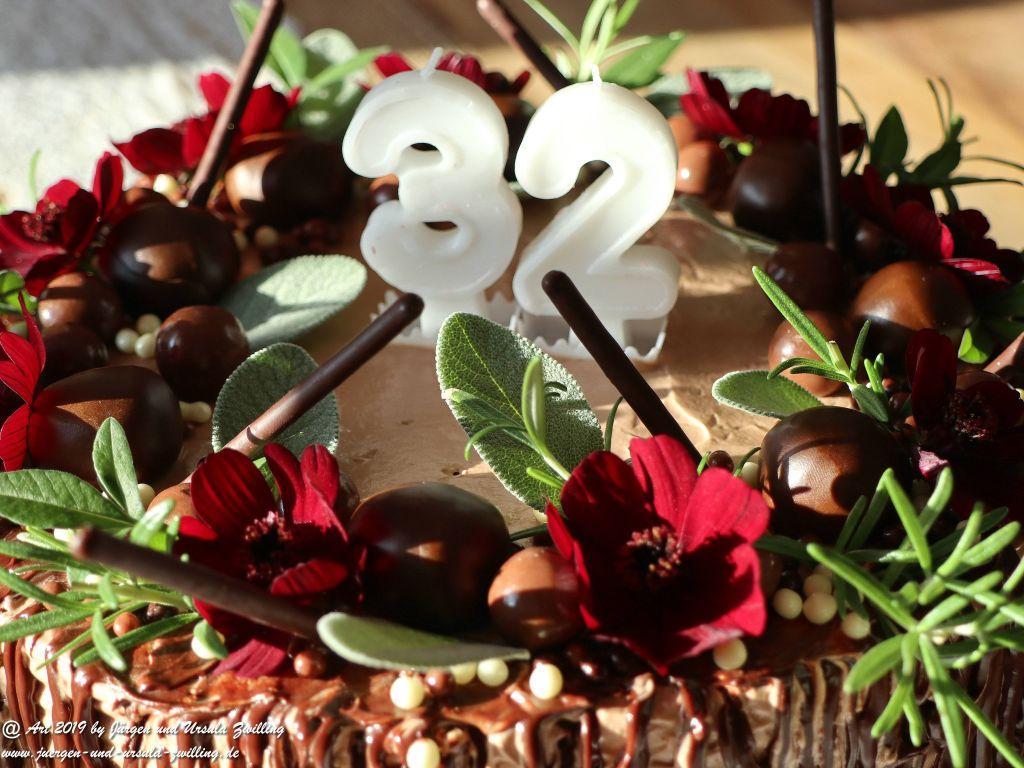 Ursula's Schoko - Blumen - Torte