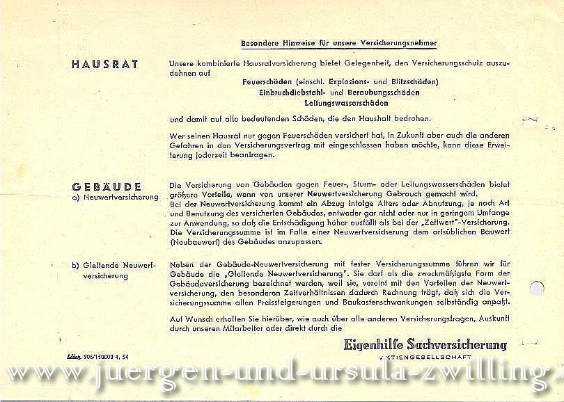 Deutsche Sachversicherung Eigenhilfe - 01.07.1969