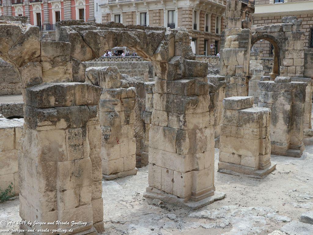 Amphitheater in Lecce in Apulien - Italien