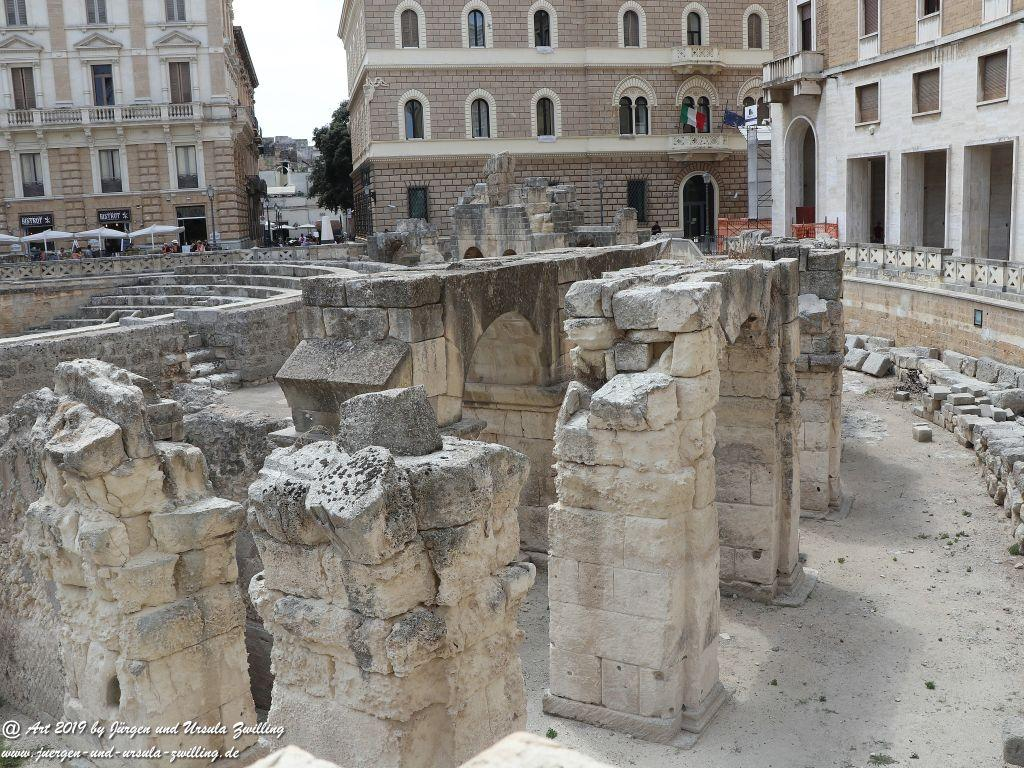 Amphitheater in Lecce in Apulien - Italien