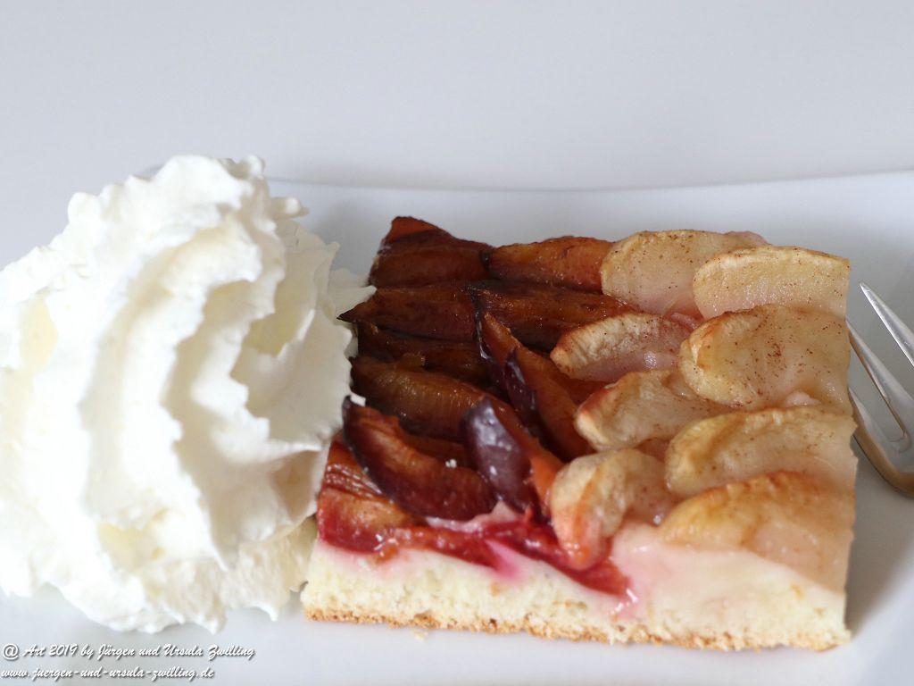 Ursula's Pflaumen - Apfel Kuchen vom Blech