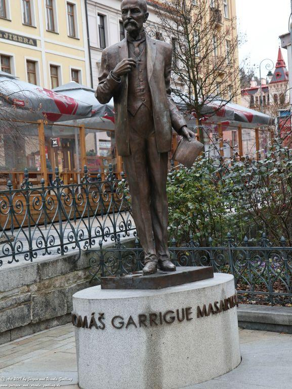 Karlovy Vary (Karlsbad) mit Weihnachtsmarkt  - Region Böhmen - Tschechien