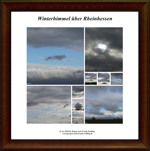 Winterhimmel über Rheinhessen