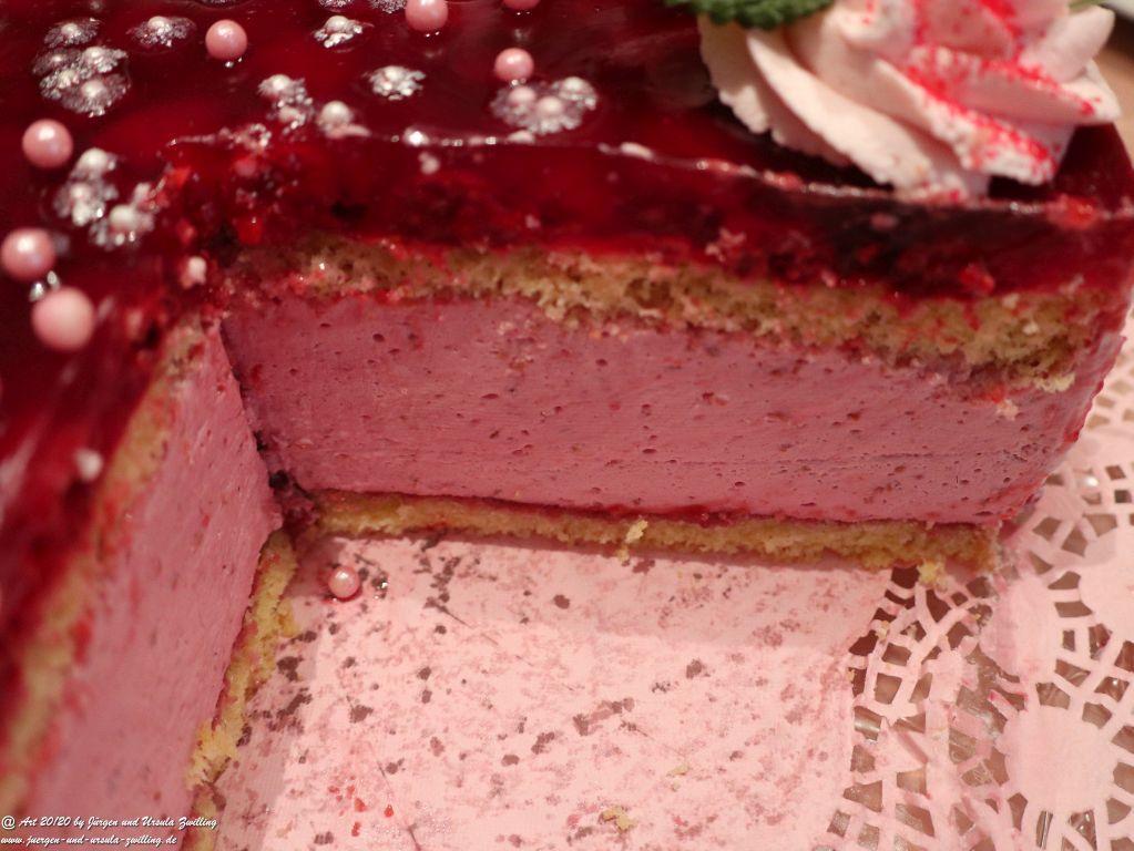 Ursula's Himbeer-Käse-Sahnetorte zu Oma's 86-zigsten Geburtstag