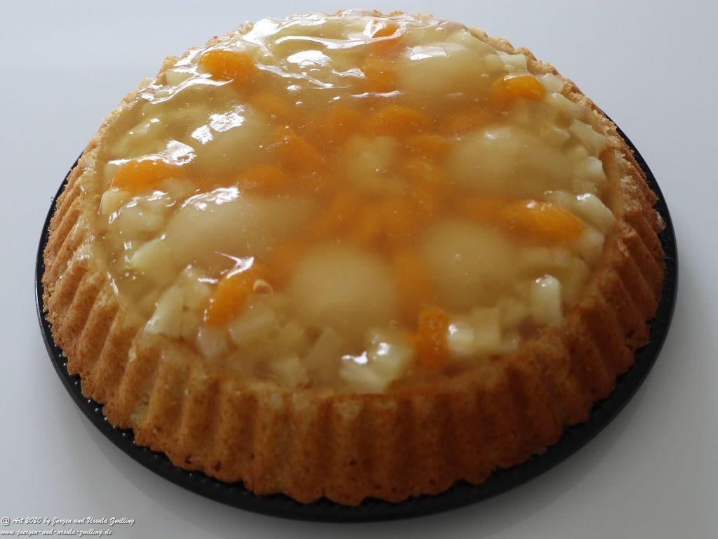Ursula's Ananas - Birnen - Mandarinen - Tortenboden