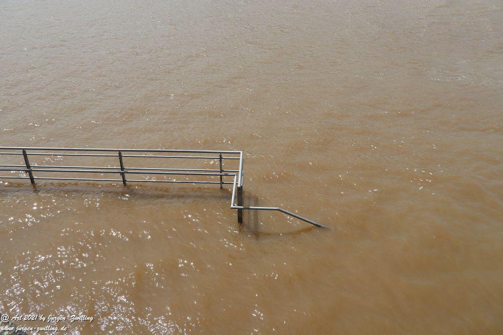 Hochwasser in Bingen am Rhein - Rheinhessen