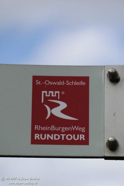 Philosophische Bildwanderung  St. Oswald - Schleife - Rhein - Burgen - Weg - Manubach - Hunsrück