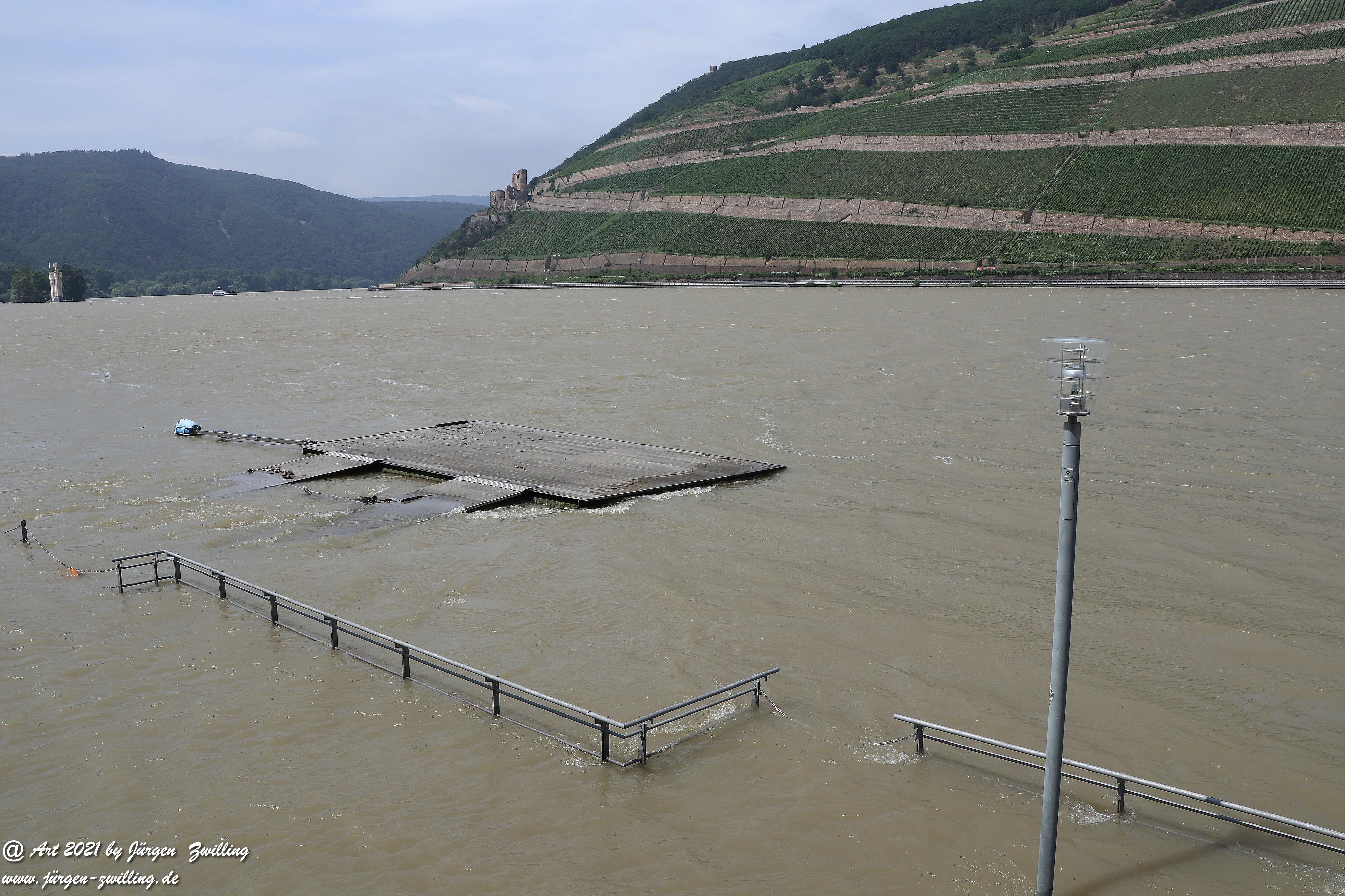 Hochwasser in Bingen am Rhein 1