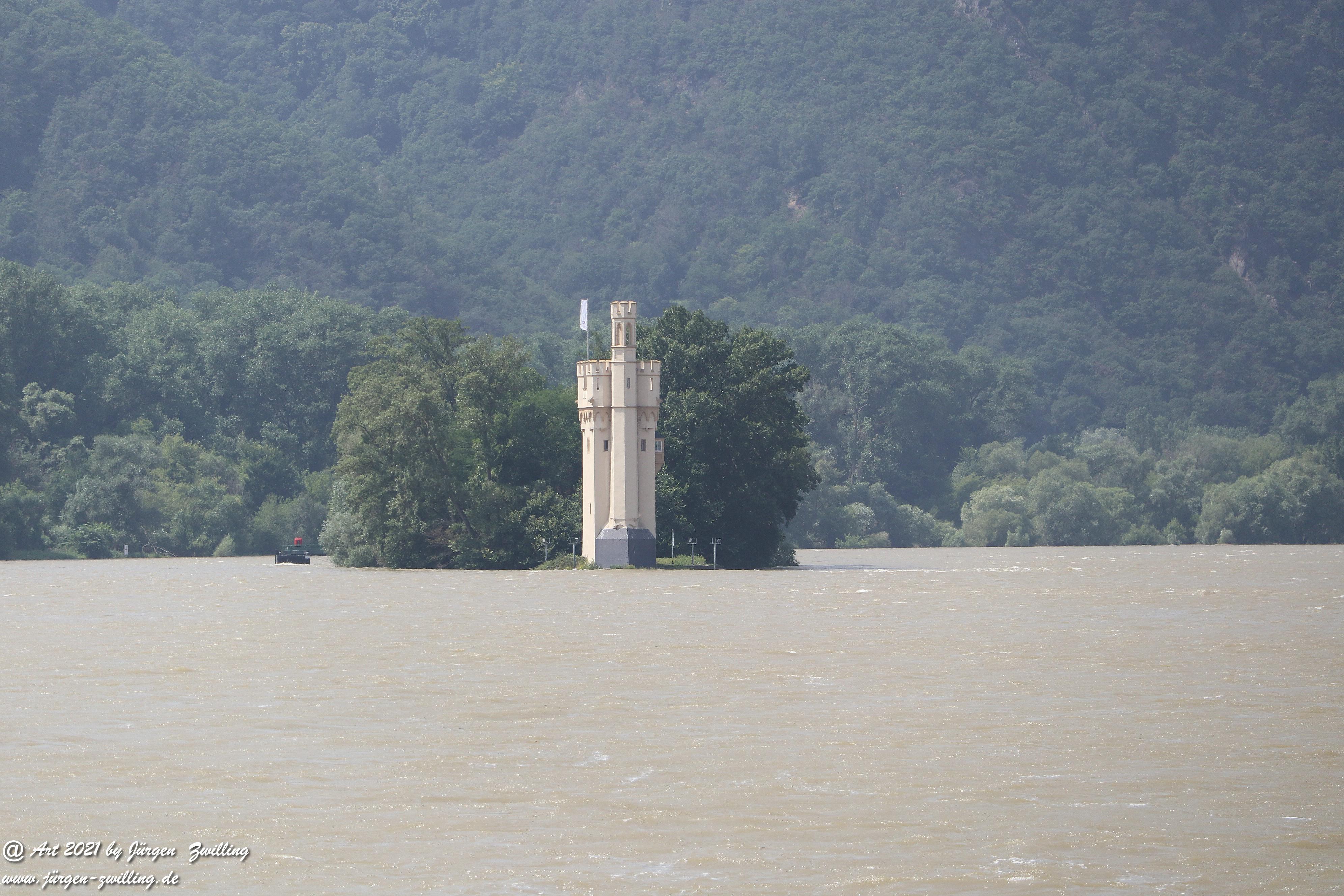 Hochwasser in Bingen am Rhein 2