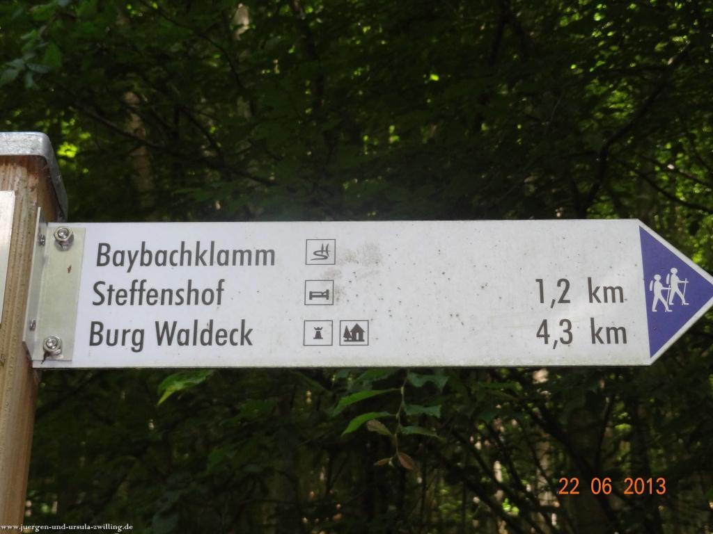 Philosophische Bildwanderung Traumschleife Baybachklamm