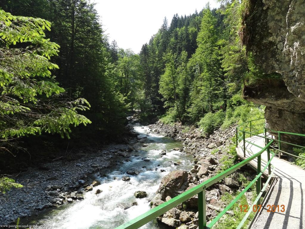 Philosophische Bildwanderung  Breitachklamm  im Allgäu