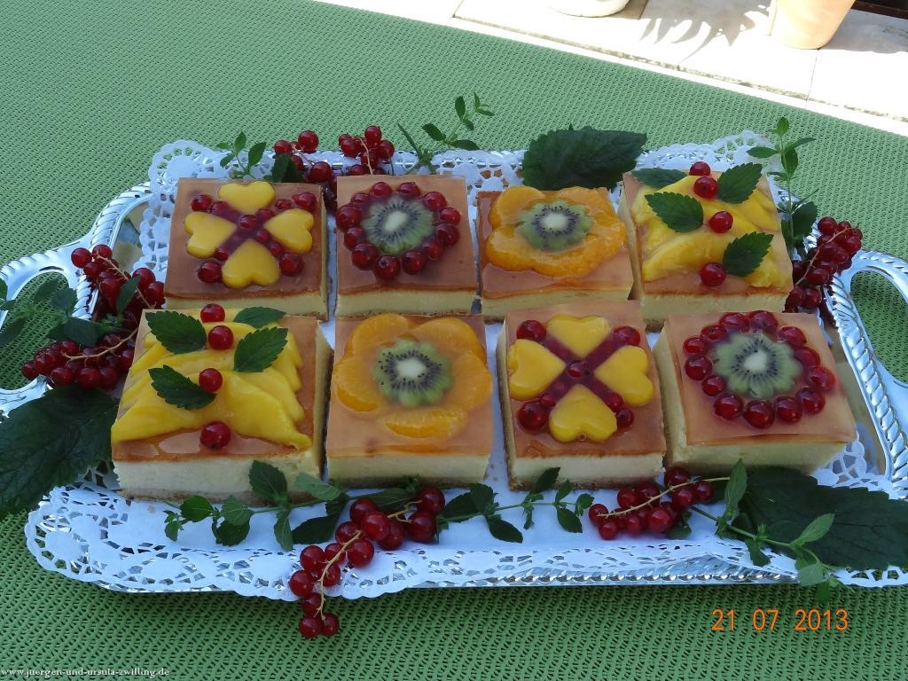 Sommer-Früchte-Käsekuchen-Familienglück