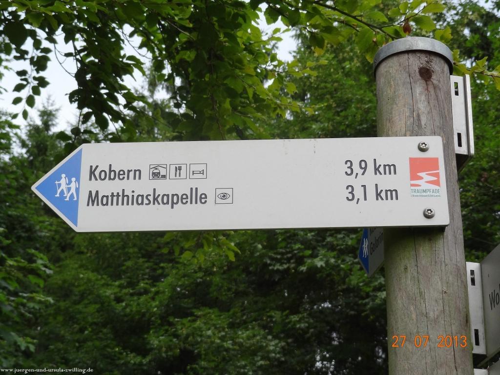 Philosophische Bildwanderung Traumpfad Koberner Burgpfad