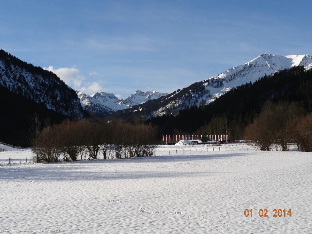Philosophische Bildwanderung - Winterwanderung im Trettachta - Allgäu