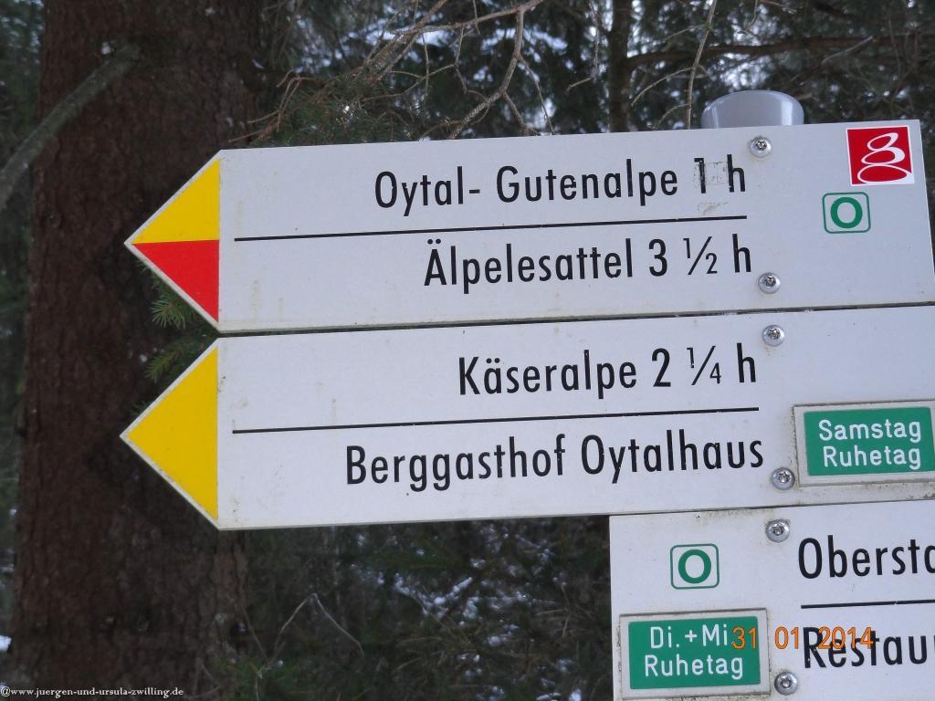 Philosophische Bildwanderung - Winterwanderung ins Oytal im Allgaeu