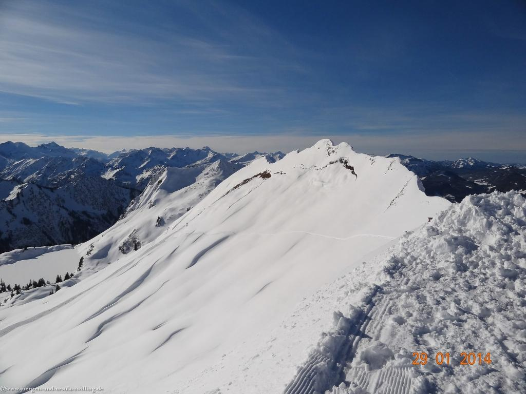 Philosophische Bildwanderung - Winterwanderung  Auf dem Nebelhorn zum Zeigersattel - Allgaeu