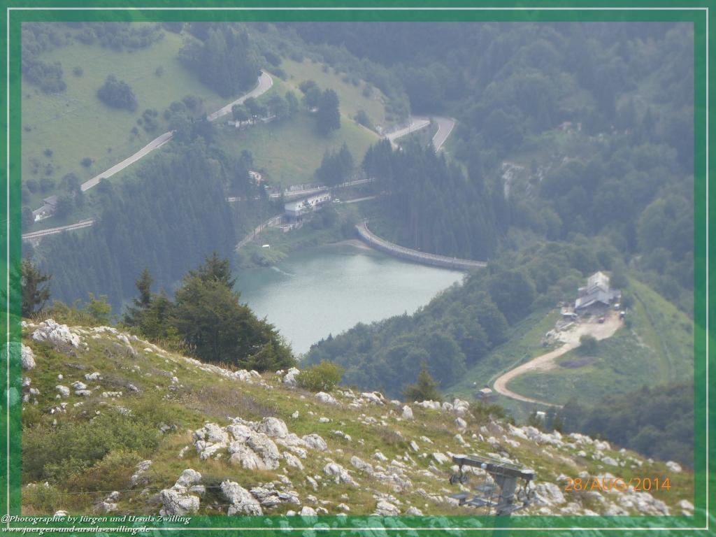 Philosophische Bildwanderung Vetrar Wanderstrecke Monte Baldo von Malcesine am Garda See