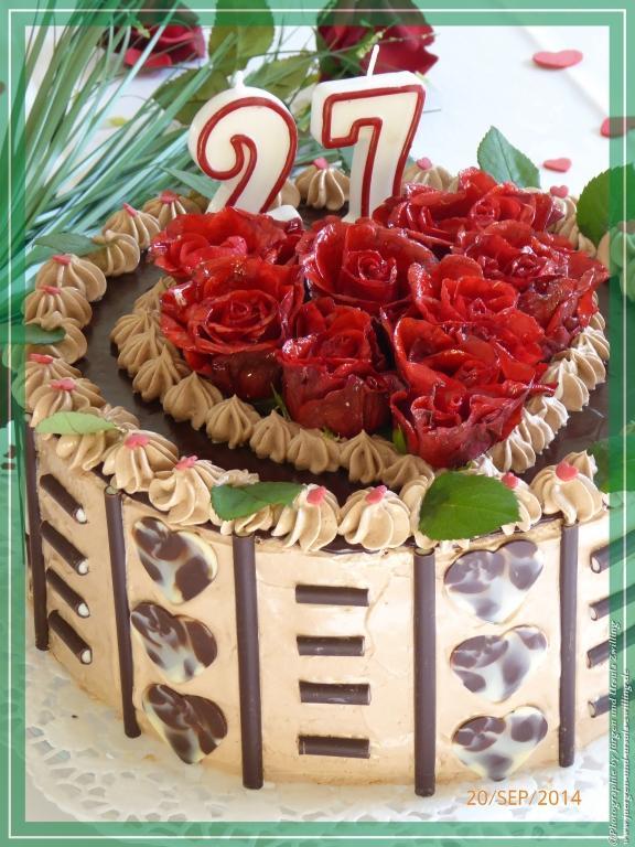 Geburtstags - Butter-Schoko-Creme-Torte