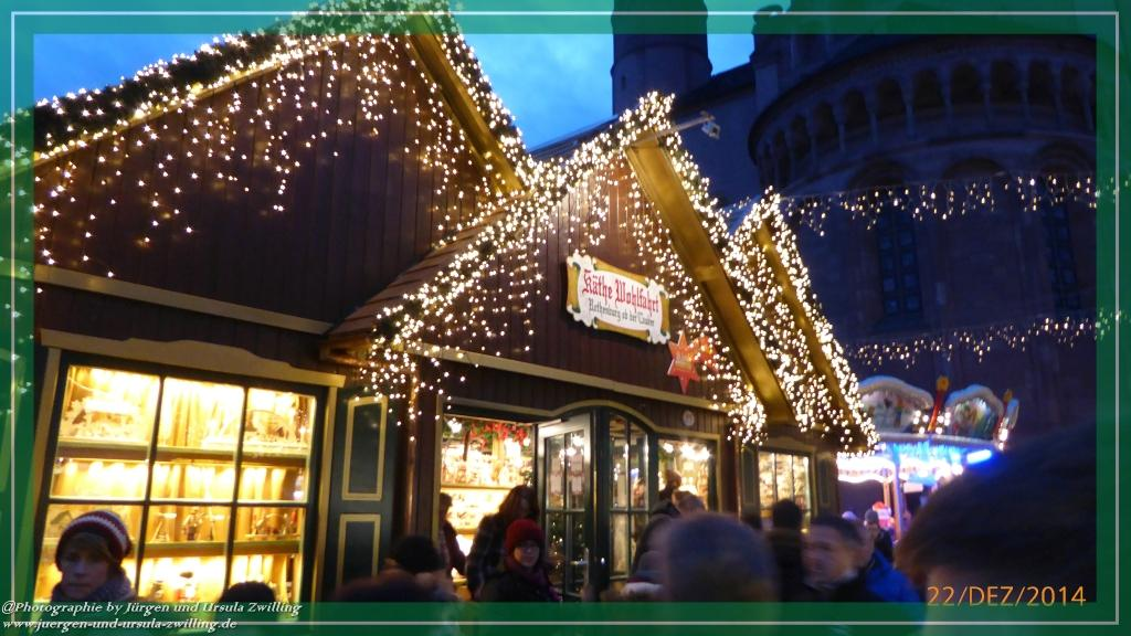 Weihnachtsmarkt im Mainz 2014 am Dom