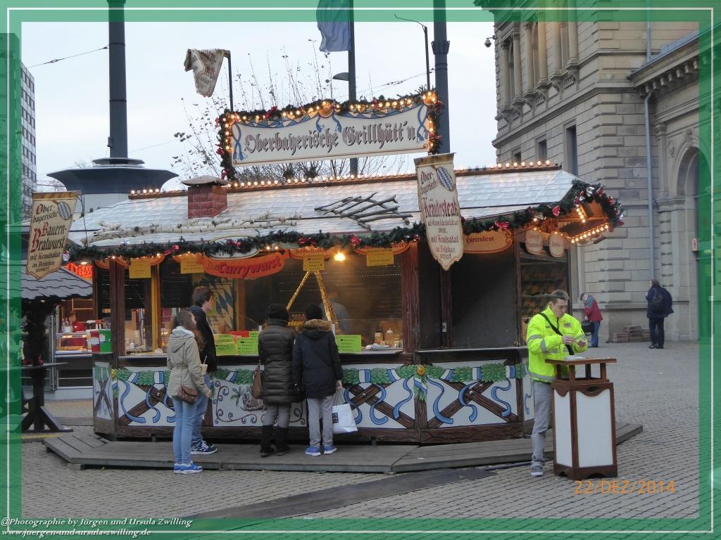 Weihnachtsmarkt im Mainz 2014 am Hauptbahnhof