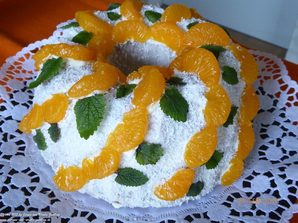 Mandarinen-Marzipan-Napfkuchen