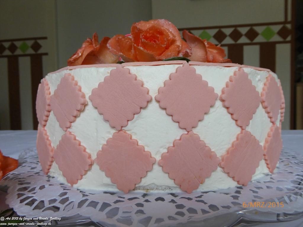 Mandarinen Käse Sahne Torte - Oma's Geburtstagtorte mit handgefertigter Deko