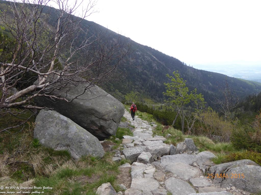 Philosophische Bildwanderung Karpacz - Kocioł Łomniczki - Śnieżka - Karkonosze - Krakonoše - Polen - Tschechien(Krummhübel - Melzergrund - Schneekoppe  Riesengebirge)