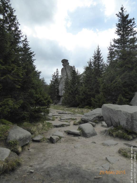 Philosophische Bildwanderung - Przesieka - Borowice - Słonecznik -Karkonosze - Krakonoše  - Polen -Tschechien -(Hain - Baberhäuser - Mittagstein - Riesengebirge