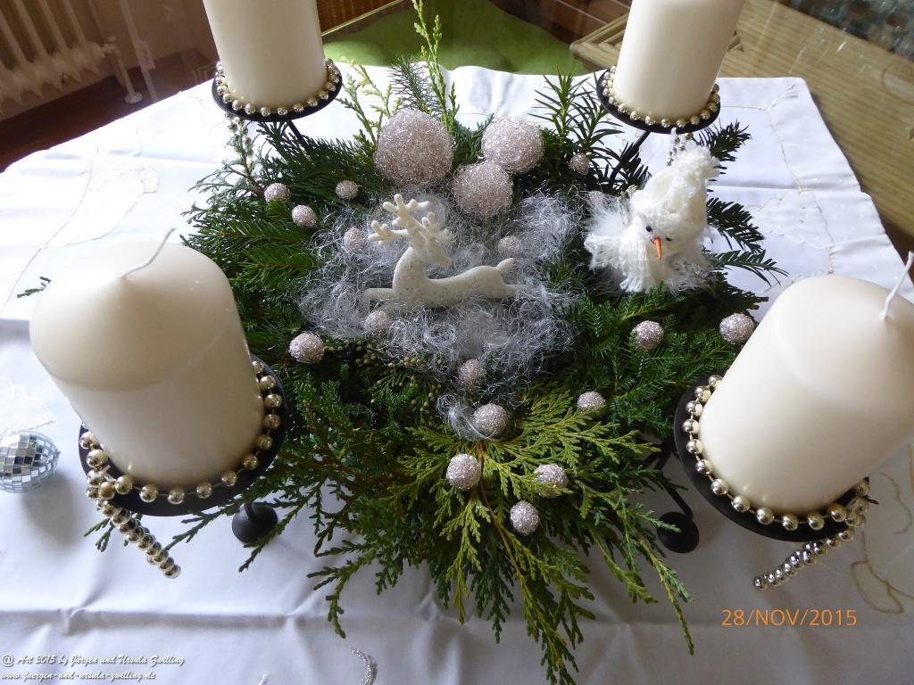 Ursula\'s Schneewolken Adventskranz