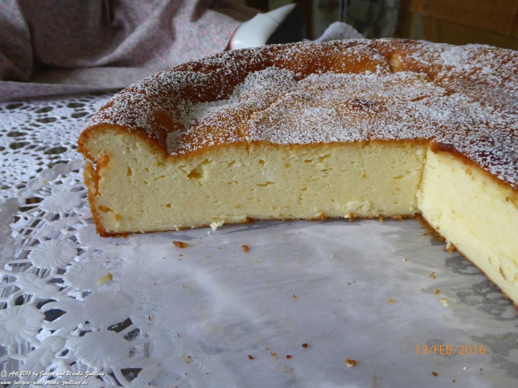 Ursula\'s Käsekuchen mit Mascarpone ohne Boden