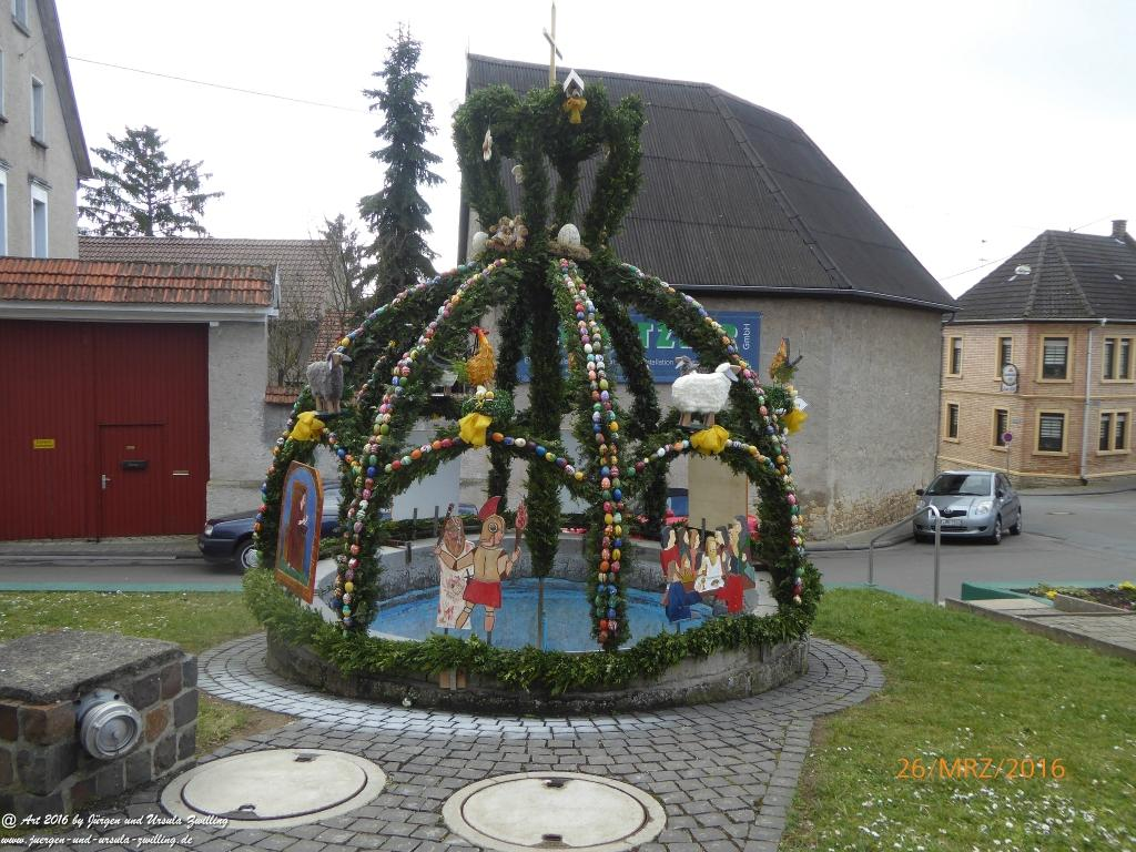 Osterbrunnen in Ober Olm - Rheinhessen