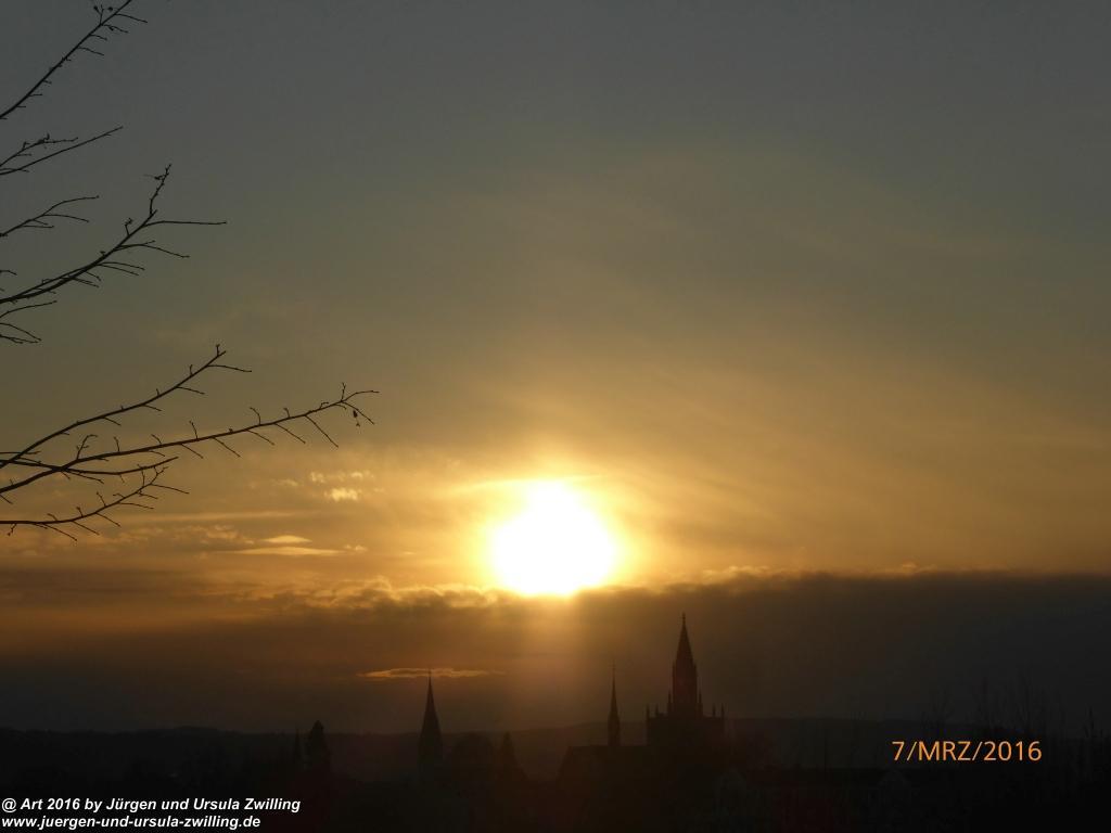 Sonnenuntergang in Konstanz am Bodensee