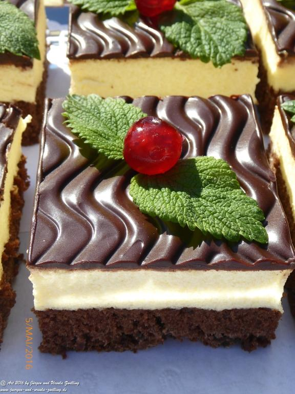 Schokoladenkuchen  mit Grießcreme -Ciasto czekoladowe z kremem kaszy mannej