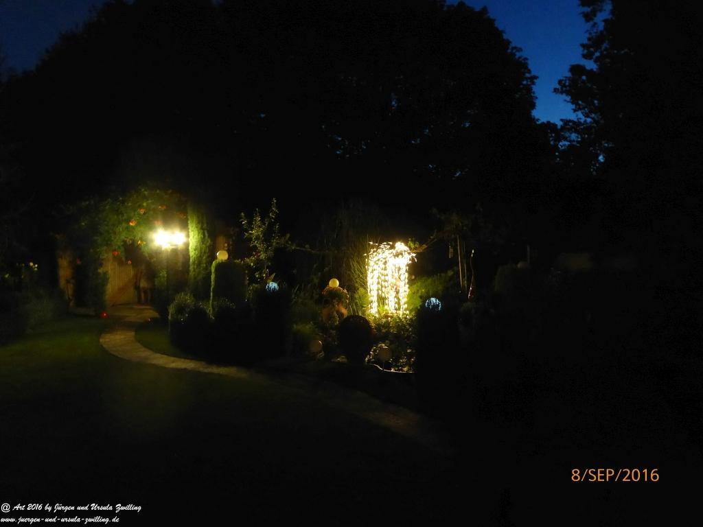 Gartenblick bei Nacht