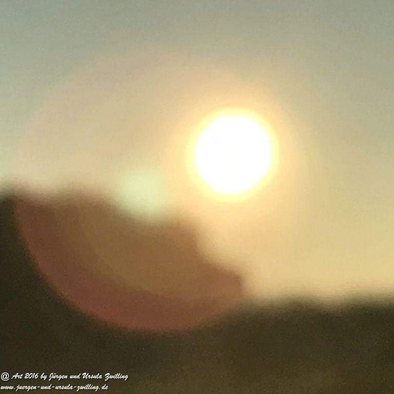 Sonnenaufgang in Rheinhessen - Mainz erlebt beim Joggen am Morgen 14.11.2016
